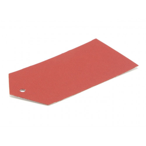 Elegant Texture-Embossed Matt Finish Pre-Punched Swing Tag - Premium in Red 89 x 45mm