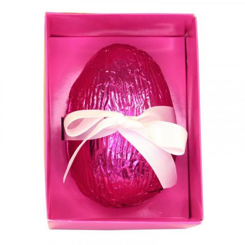 Promotional - Luxury Vegan Friendly Dark Chocolate Egg containing Dark Raspberry Cremes 240g