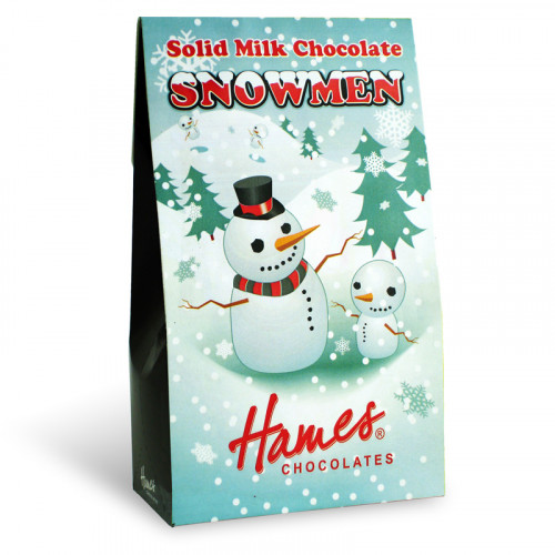 Christmas Novelty - Solid Milk Chocolate Snowmen Shapes