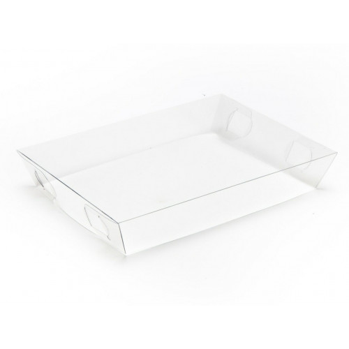 Clear Transparent Lid to Fit Small Shallow Hamper Box 180 x 126 x 31mm