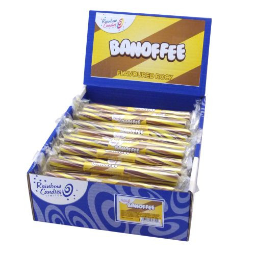 Novelty Flavoured Rock Bar - Banoffee 100 Bars