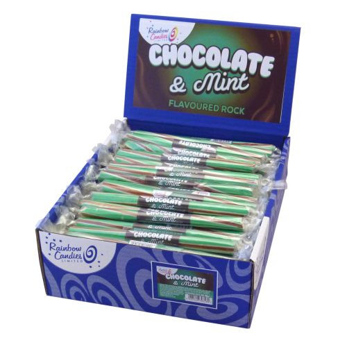 Novelty Flavoured Rock Bar - Chocolate Mint 100 Bars