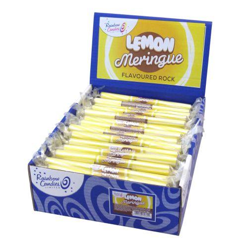 Novelty Flavoured Rock Bar - Lemon Meringue 100 Bars
