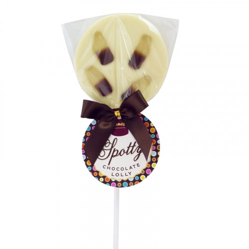 Hames - Luxury Spotty Lollies White Chocolate Lollipops Decorated with Cola Bottles  x Outer of 18
