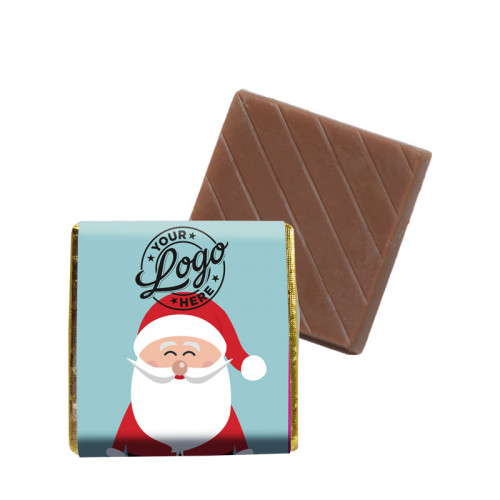 Promotional Milk Chocolate Neapolitan Wrapped in Silver Foil Finished with Ho-Ho-Ho! Jolly Father Christmas Wrapper