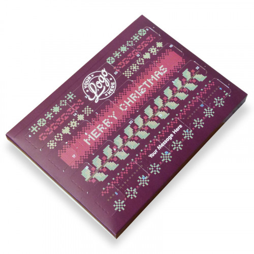 Promotional Desktop Milk Chocolate (Foiled Tray) Advent Calendar with a Christmas Jumper Design - 48g