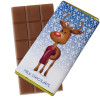 A Very Woolly Christmas - Reindeer Themed Knitted White Chocolate Bars 80g Wrapped in Gold Foil x Outer of 12