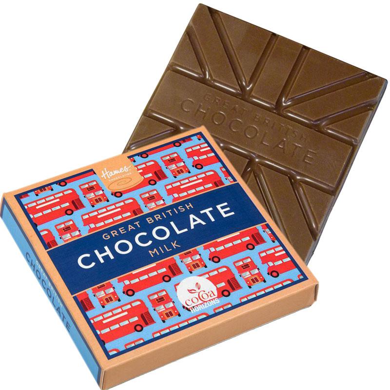 Hames 65g Great British Milk Chocolate Bars in Very British Chocolate Packaging